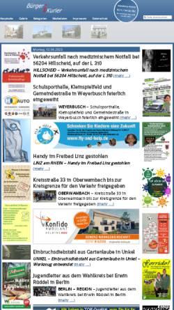 Vorschau der mobilen Webseite www.report-ak.de, Bürgerkurier