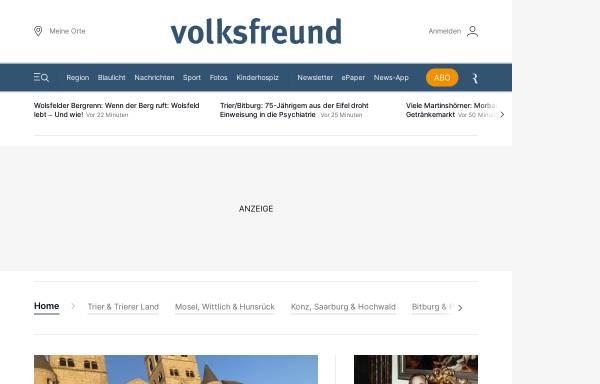 Vorschau von www.volksfreund.de, Trierischer Volksfreund - volksfreund.de