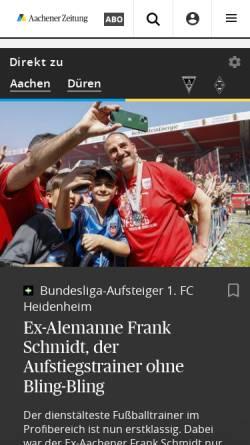 Vorschau der mobilen Webseite www.aachener-nachrichten.de, Aachener Nachrichten