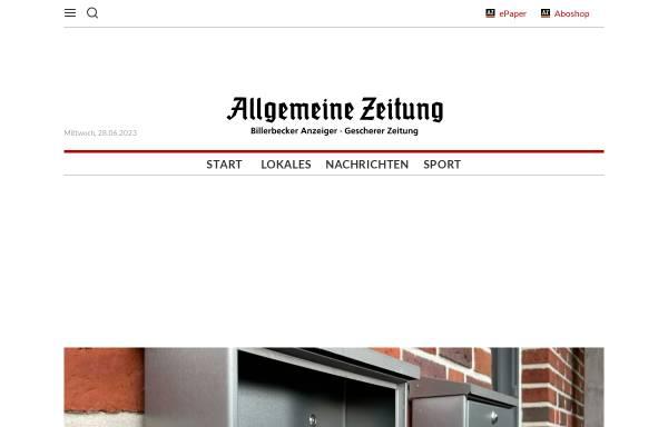 Vorschau von www.azonline.de, Allgemeine Zeitung (AZ)