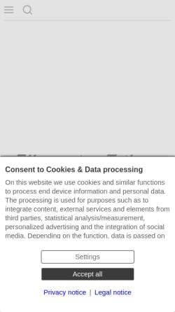 Vorschau der mobilen Webseite www.azonline.de, Allgemeine Zeitung (AZ)