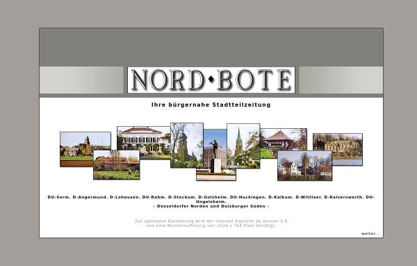 Vorschau von www.nordbote.info, Nordbote