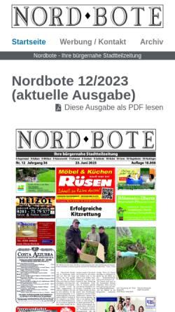 Vorschau der mobilen Webseite www.nordbote.info, Nordbote