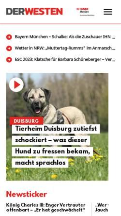 Vorschau der mobilen Webseite www.derwesten.de, Der Westen