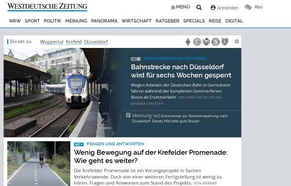 Vorschau von www.wz-newsline.de, WZ-Newsline - Westdeutsche Zeitung