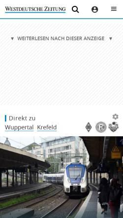 Vorschau der mobilen Webseite www.wz-newsline.de, WZ-Newsline - Westdeutsche Zeitung