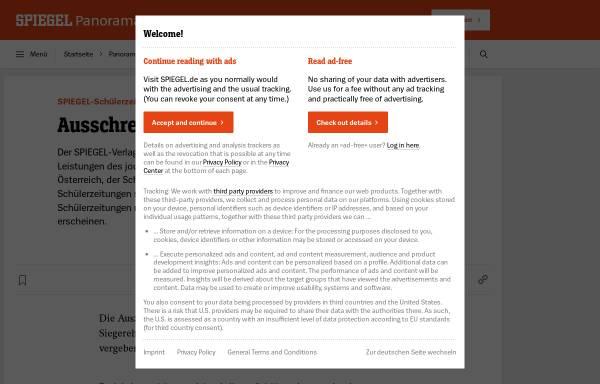 Vorschau von www.spiegel.de, Spiegel-Wettbewerb