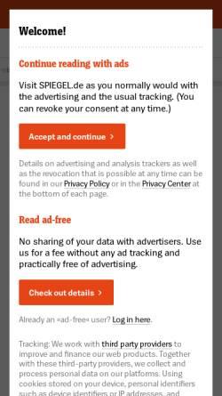Vorschau der mobilen Webseite www.spiegel.de, Spiegel-Wettbewerb