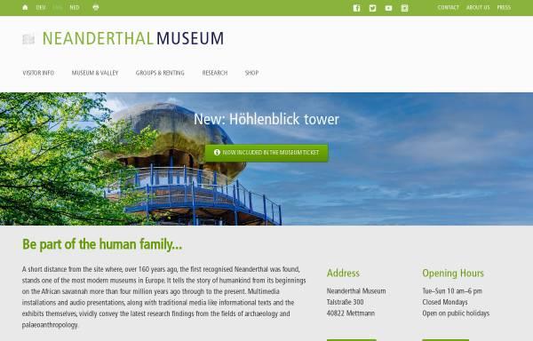 Vorschau von www.neanderthal.de, Mettmann, Neanderthal-Museum