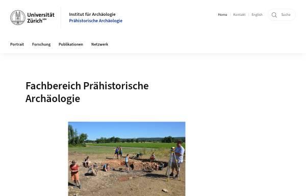 Vorschau von www.prehist.uzh.ch, Abteilung Ur- und Frühgeschichte der Universität Zürich