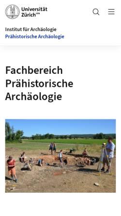 Vorschau der mobilen Webseite www.prehist.uzh.ch, Abteilung Ur- und Frühgeschichte der Universität Zürich