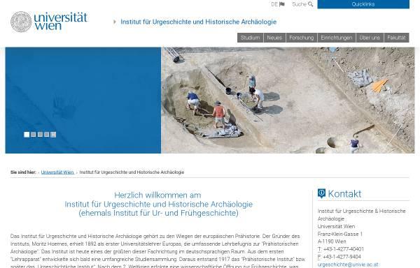 Vorschau von ufg.univie.ac.at, Institut für Ur- und Frühgeschichte der Universität Wien