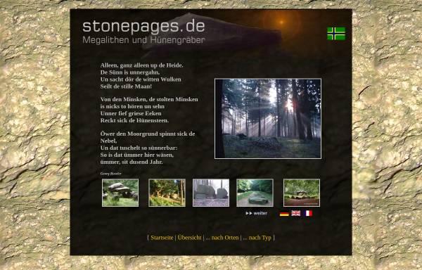Vorschau von www.stonepages.de, Megalithen im Osnabrücker Land