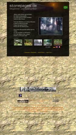 Vorschau der mobilen Webseite www.stonepages.de, Megalithen im Osnabrücker Land