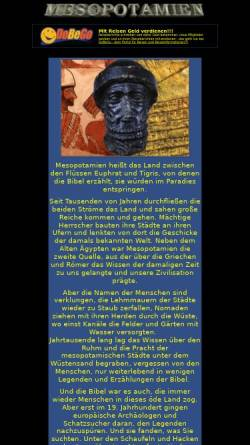 Vorschau der mobilen Webseite www.mesopotamien.de, Vergessenes Mesopotamien