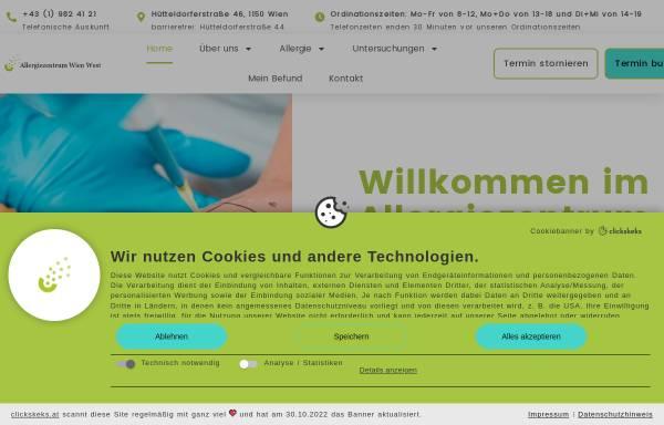 Vorschau von www.allergiezentrum.at, Allergiezentrum