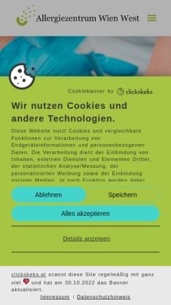 Vorschau der mobilen Webseite www.allergiezentrum.at, Allergiezentrum