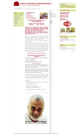Vorschau der mobilen Webseite www.tropeninstitut.at, Institut für Reise- und Tropenmedizin