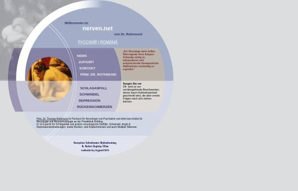 Vorschau von www.nerven.net, Prim. Dr. Thomas Rothmund - Nerven.net