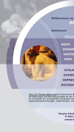 Vorschau der mobilen Webseite www.nerven.net, Prim. Dr. Thomas Rothmund - Nerven.net