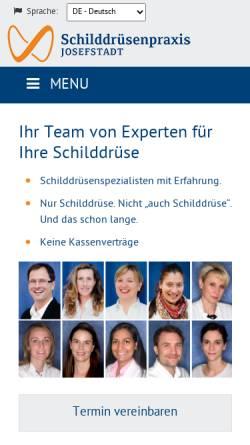 Vorschau der mobilen Webseite www.schilddruesenpraxis.at, Schilddrüsenpraxis Josefstadt 1080 Wien