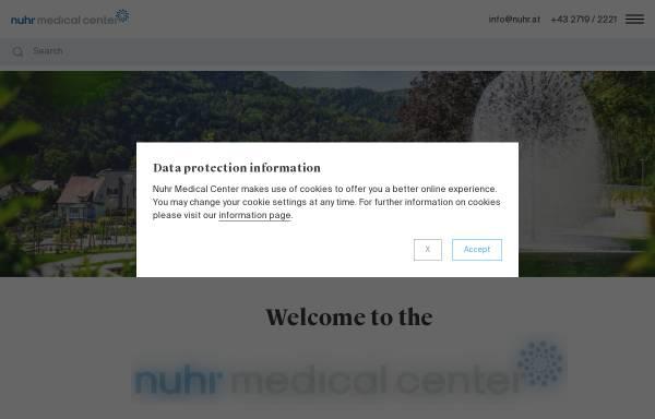 Vorschau von www.prof-nuhr.at, Univ. Prof. Dr. Martin Nuhr, Facharzt für Physikalische Medizin und Rehabilitation, 1080 Wien