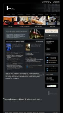 Vorschau der mobilen Webseite www.hotelaston.sk, Aston Business Hotel, Bratislava