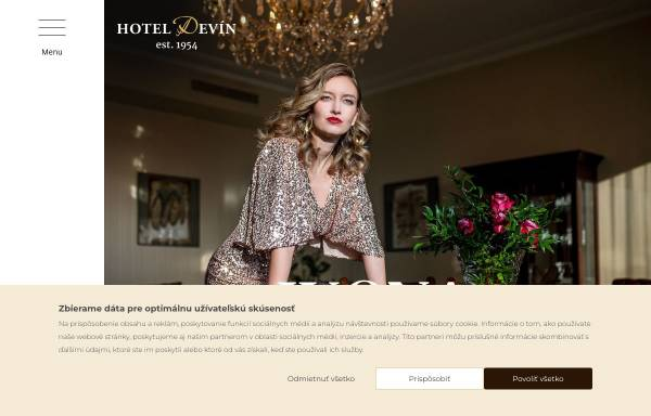 Vorschau von www.hoteldevin.sk, Hotel Devin, Bratislava