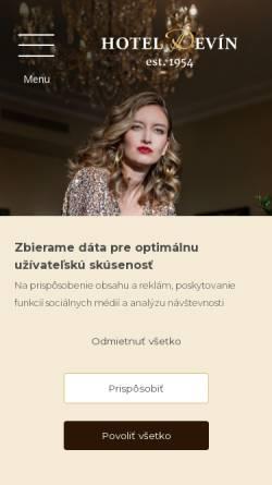 Vorschau der mobilen Webseite www.hoteldevin.sk, Hotel Devin, Bratislava