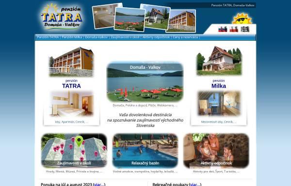 Vorschau von www.tatra-domasa.sk, Pensionen Tatra und Milka, Valkov/Domasa