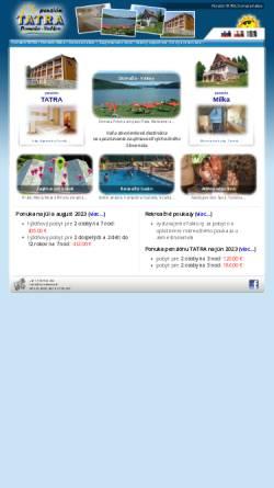 Vorschau der mobilen Webseite www.tatra-domasa.sk, Pensionen Tatra und Milka, Valkov/Domasa