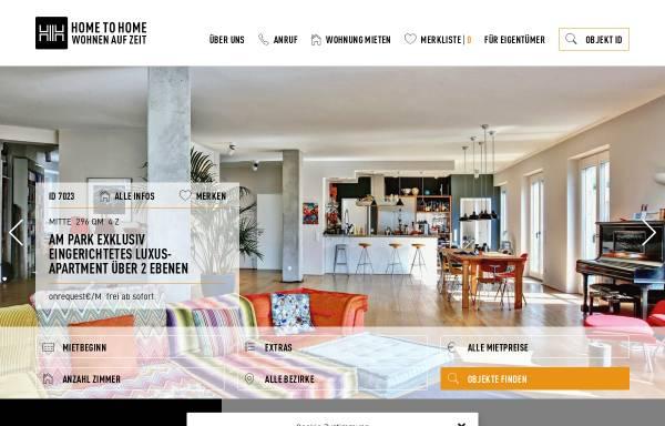 Vorschau von www.hometohome.de, Home To Home: internationale Wohnagentur
