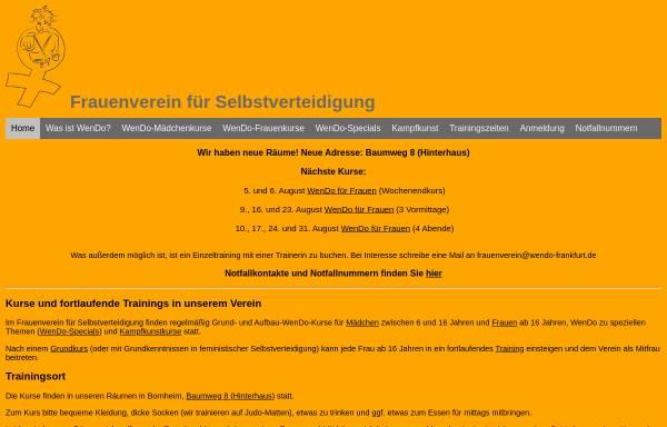 Vorschau von www.wendo-frankfurt.de, Wendo Frankfurt am Main
