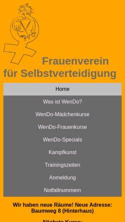 Vorschau der mobilen Webseite www.wendo-frankfurt.de, Wendo Frankfurt am Main