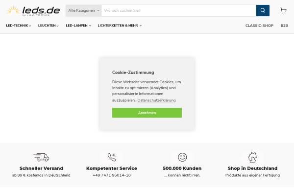 Vorschau von www.leds.de, Lumitronix LED-Technik GmbH