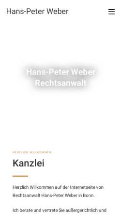 Vorschau der mobilen Webseite hans-peterweber.de, Weber Hans-Peter