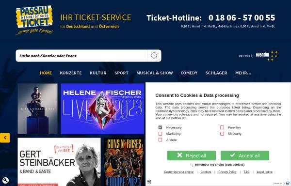Vorschau von www.passau-ticket.de, Passau-Ticket