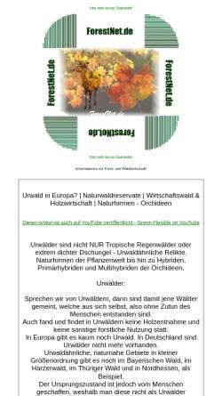 Vorschau der mobilen Webseite www.forestnet.de, ForestNet.de