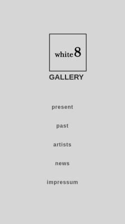 Vorschau der mobilen Webseite www.white8.at, Galerie Dagmar Aichholzer