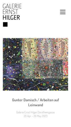 Vorschau der mobilen Webseite www.hilger.at, Galerie Ernst Hilger