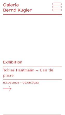 Vorschau der mobilen Webseite www.galerie-kugler.at, Galerie Sandhofer