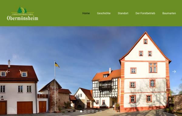 Vorschau von www.forstverwaltung-obermoensheim.de, Forstverwaltung Obermönsheim des Freiherr Norman von Gaisberg