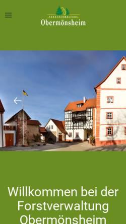 Vorschau der mobilen Webseite www.forstverwaltung-obermoensheim.de, Forstverwaltung Obermönsheim des Freiherr Norman von Gaisberg