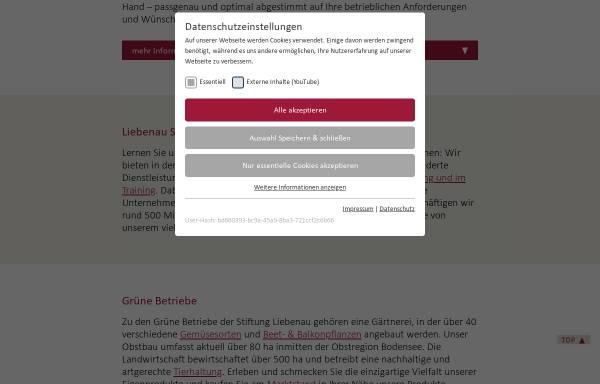Vorschau von www.liebenauer-forstbetriebe.de, Liebenauer Forstbetriebe