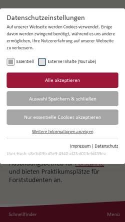 Vorschau der mobilen Webseite www.liebenauer-forstbetriebe.de, Liebenauer Forstbetriebe
