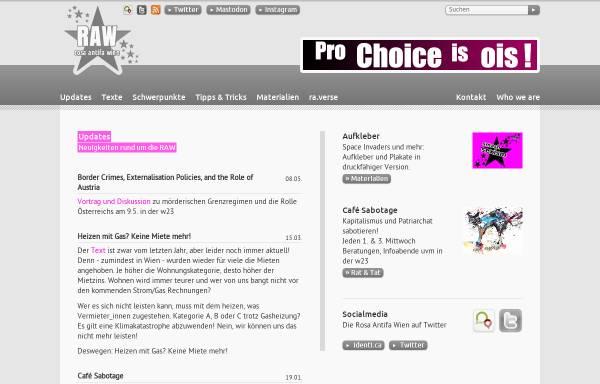 Vorschau von www.raw.at, Rosa Antifa Wien