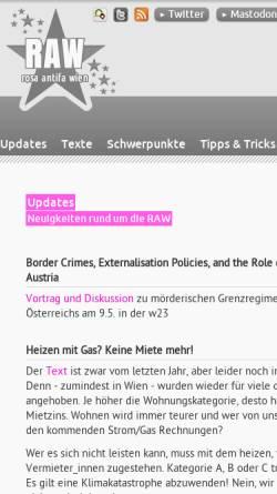 Vorschau der mobilen Webseite www.raw.at, Rosa Antifa Wien