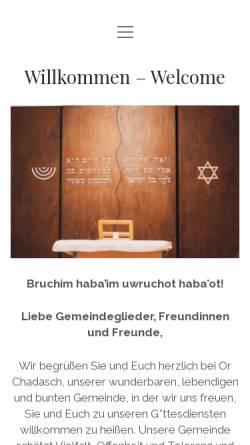 Vorschau der mobilen Webseite www.orchadasch.at, Jüdische liberale Gemeinde Wien