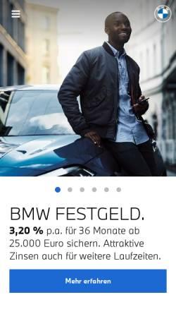 Vorschau der mobilen Webseite www.bmwbank.de, BMW Bank GmbH