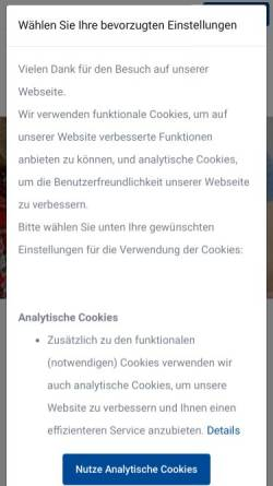 Vorschau der mobilen Webseite dhbbank.de, Demir Halk Bank (Nederland) N.V.